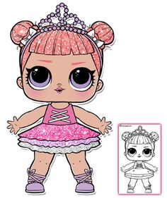 LOL Surprise Doll Coloring Pages - Free Printable Coloring . @ Just Coloring Coloring Sheets, Coloring Pages For Kids, Lol Doll Cake, Doll Party, Lol Dolls, Paint Party, Printable Coloring, Fall Halloween, Cute Art