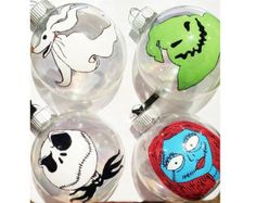 Nightmare Before Christmas Ornament set by MagnoliaCountryCharm