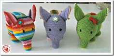 Jam Made olifantje (gratis Nederlands patroon) - crochet elephant (Dutch pattern, with link to the original English pattern).  #haken