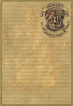 was looking for Hogwarts stationery and could not find any, so I made some. This is the first, just a plain letterhead.I was looking for Hogwarts stationery and could not find any, so I made some. This is the first, just a plain letterhead. Magie Harry Potter, Harry Potter Thema, Cumpleaños Harry Potter, Mundo Harry Potter, Harry Potter Tumblr, Harry Potter Birthday, Harry Potter Notebook, Harry Harry, Harry Potter Navidad
