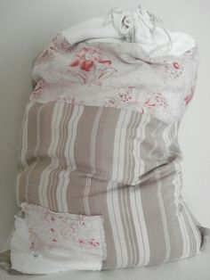 Pretty patchwork laundry bag