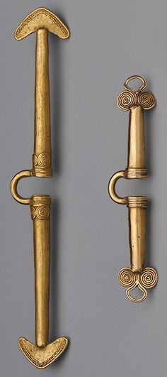 Zenu culture (Colombia)--gold nose ornaments