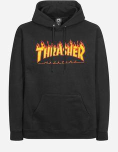 Thrasher - Thrasher Flame Hooded-Sweat