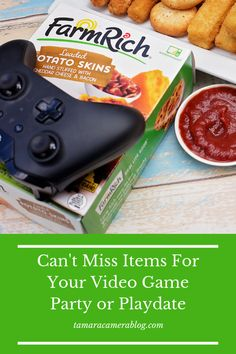 Can't Miss Items for Your Video Game Party, Playdate or Everyday Game Session - Tamara Like Camera Video Game Party, Party Games, Grilled Cheese Sticks, Carrot Slaw, American Cheese, White Bread, Pumpkin Puree, You Videos, Coconut Water