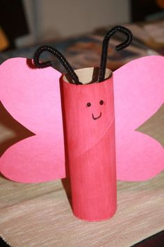 Paper Towel Roll Butterflies  http://www.bountytowels.com/bountytowels/Arts_and_Crafts/2012/Simple_Crafts_Paper_Towel_Roll_Butterflies.html  Paper towel roll butterflies are a simple crafts project that your little ones can make with just a few items you probably already have on hand.