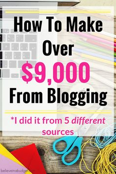 Last month I made more than $9,000 from blogging. I am sharing how I did this in my online income report. I am not an expert and have only been blogging for 1.5 years. If you want to make money and earn extra income, blogging is a great way to do this. The first time I made money from blogging, I made around $60. A little over a year later, I made almost $10,000 from blogging. I used 5 different ways to make money for my blog to diversify. If you want to make money, here's exactly how I did…
