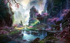 Fantasy Art Scenery | Inspirational Fantasy/Scifi Landscape Paintings | A Novelist Perhaps
