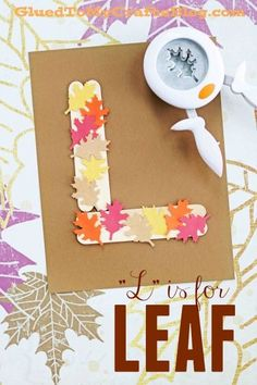 """""""L"""" is for Leaf - Popsicle Stick Themed Kid Craft - Fall Kid Activity"""