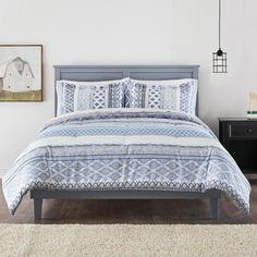 Nadira 3-Piece Stone Gray Stripe Full/Queen Comforter Set Full Size Bed Comforter, Grey Comforter, Queen Comforter Sets, Duvet Sets, Linen Bedroom, Cozy Room, Grey Stone, Grey Stripes, 3 Piece