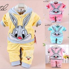 Hot baby clothing set 2020 Spring/Autumn Baby Set Cartoon Rabbit  Price: 0.00 & FREE Shipping  #babybedding Toddler Outfits, Baby Boy Outfits, Baby & Toddler Clothing, Kids Outfits, Children Clothing, Clothing Sets, Girl Clothing, Children Suit, Baby Set