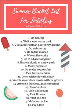 Summer Bucket List For Toddlers, bucket list for kids, summer activities for toddlers, summer fun for kids, summer fun for toddlers, what to do this summer, free things to do this summer with kids, free things to do this summer with toddlers, summer bucket list, toddler summer bucket list