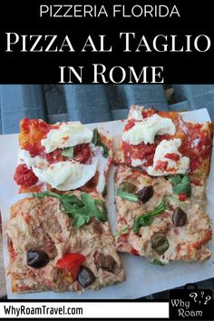 Pizzeria Florida: Good pizza al taglio in Rome if you're looking for a quick bite in the city centre. | WhyRoamTravel.com