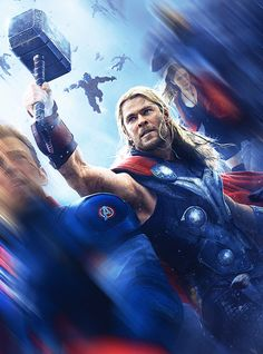 I like this picture. there is but one minor mistake. forgive me friend Rogers and friend Maximoff for the blur. But tis about Me. - Thor.