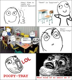 El Pupitre! :D Our very immature spanish class died because of the Desk!