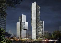 #Ole #Scheeren: DUO Twin #Towers in Singapore - #architecture #skyscraper
