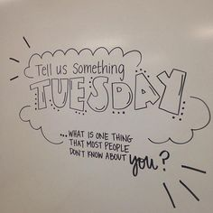 Tell us something Tuesday. Whiteboard morning work for upper elementary or middle school grades. I think this exemplifies what Carol Tomlinson means be the class environment. Page 5 talks about the tone of the classroom. Communication Orale, Daily Writing Prompts, Essay Writing, Writing Journals, Morning Activities, 5th Grade Teachers, Responsive Classroom, Classroom Community, Thinking Day