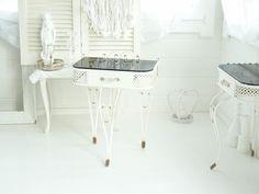 ~◇~++Shabby+chic+Nachttisch+aus+Eisen++~◇~+von+Weidenröschen+auf+DaWanda.com