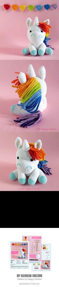 My Rainbow Unicorn Amigurumi Pattern