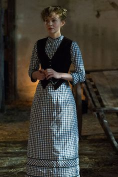 Far From the Madding Crowd Janet Patterson, Costume design // I WANT THIS GINGHAM DRESS Checked dress blue dress gingham dress long dress black waistcoat warm weather spring summer Period Costumes, Movie Costumes, Ballet Costumes, Lorraine, Steampunk, Madding Crowd, Dress With Shawl, Period Outfit, Check Dress