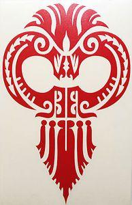 Hawaiian Warrior mask | Hawaiian-Warrior-Red-Tribal-Ikaika-Mask-Vinyl-Sticker-Car-Truck-Boat ...