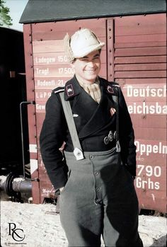 Lt. Wilfred Grigat from Pz.Rgt.35's Stabskompanie at the Karachew Railway Station on their way to Llgov, winter of 1943. Despite the boyish look this soldier was already a veteran as attested by the...