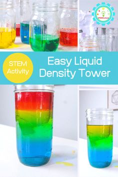 They eat sugar rainbows! Learn how to make your own sugar rainbow density tower in this experiment inspired by Zoey and Sassafras. Liquid Rainbow, Rainbow Water, Rainbow Food, Rainbow Crafts, Rainbow Theme, Science Experiments Kids, Science Projects, Fun Projects, Density Tower