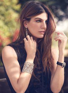 Bianca Brandolini on Emirates Woman January 2016, wears Cartier jewelry. Photo by Andoni and Arantxa
