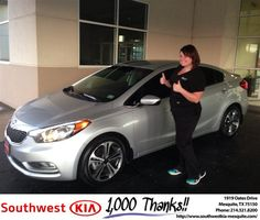 https://flic.kr/p/LZ9wtt | #HappyAnniversary to Heather and your 2014 #Kia #Forte from Clinton Miller at Southwest Kia Mesquite! | www.deliverymaxx.com/DealerReviews.aspx?DealerCode=VNDX