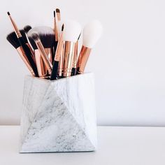 makeup, marble, and beauty image