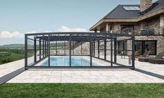 Pool Enclosure POPP PRESTIGE P3 robust, solid construction, though shifting enclosure effortlessly