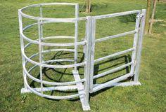 Traditional wrought iron kissing gate. Goat Shed, Gate Post, Barn Shop, Farm Gate, Gate Latch, Gate Ideas, Dream Barn, Welding Art, Garden Structures