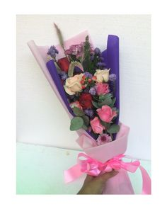 Purp pink bouquet wrap !!  Email on asmaraflorist.com  Or cek on instagram Asmara Florist  WhatsApp 081213452757