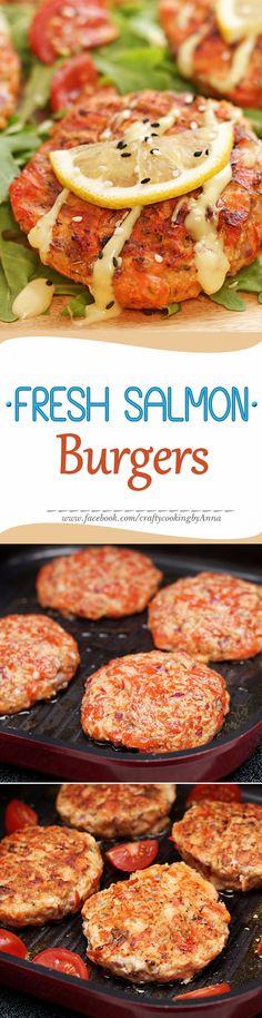 Wild Alaskan Sockeye Salmon Burgers! #Easy #Delicious #Healthy