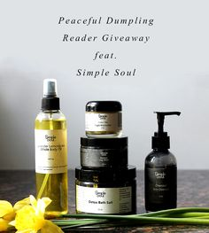 One of my favorite organic skin care lines discovery is Simple Soul, with some of the best smelling, most pampering natural face & body products I've seen. First, read about why it's so great!  Then to enter, just follow Peaceful Dumpling and re-pin this. It's that easy! :D