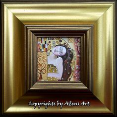 MINIATRUE HERMINA Mixed 3D media on canvas: 10 x 10 cm Frame: 24 x 24 cm