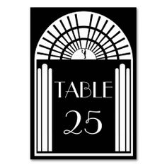 Wedding Table Number Black & White Art Deco Style Table Card so please read the important details before your purchasing anyway here is the best buyDiscount Deals          	Wedding Table Number Black & White Art Deco Style Table Card Online Secure Check out Quick and Easy...