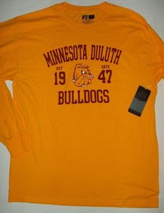 af49659c DULUTH UNIVERSITY MINNESOTA Russell Athletic Cotton Long Sleeve T-shirt L  42-44 #