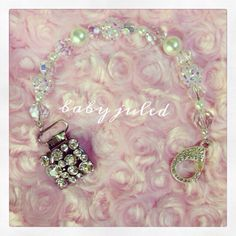Bling Sparkle Beaded Pacifier Clip by BabyJuled on Etsy, $25.00