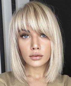 Medium Hair Cuts, Short Hair Cuts, Medium Hair Styles, Short Hair Styles, Bangs With Medium Hair, Short Bobs With Bangs, Medium Short Hair, Wigs With Bangs, Blonde Bob Hairstyles