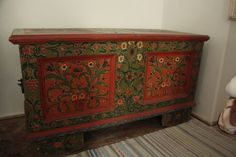 Hungarian painted chest