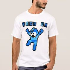 Rock On T-Shirt - tap to personalize and get yours Game Themes, Got 1, Mega Man, Fitness Models, Rock, Casual, Sleeves, Cotton, Mens Tops