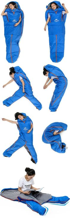 For those who are looking for a bit more sleeping positions freedom in a sleeping bag, the Sleeping Bag Suit may be what you are looking for.