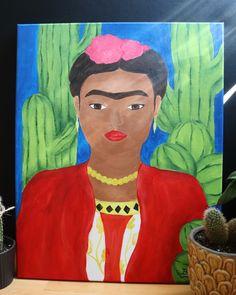 "My painting of  ""Frida Kahlo"". Acrylic Paintings, Canvas, Art, Frida Kahlo, Tela, Art Background, Kunst, Canvases, Performing Arts"
