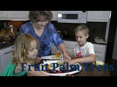 This recipe for fruit palm trees is a great summer hit with the children.  So easy — the kids can assemble! This recipe makes two palm trees, but you can make anything you like with the fruit you have. http://www.adclinic.com/2014/07/healthy-recipe-fruit-palm-trees/