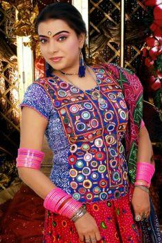 Beautiful sindhi girl in ajrak like cloths