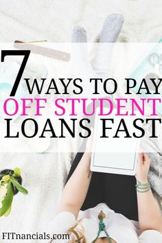 7 Ways To Pay Off Student Loans Fast - Pay off credit card - How long to Pay off credit card? - Check out this list on how to pay off student loans quick. This list was so helpful in creating a plan to pay off student loans. School Loans, College Loans, College Tips, Paying Off Student Loans, Student Loan Debt, Debt Repayment, Debt Payoff, Dave Ramsey, Sallie Mae