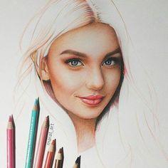 Realistic Drawings, Colorful Drawings, Art Drawings Sketches, Pencil Drawings, Colored Pencil Portrait, Colored Pencil Artwork, Color Pencil Art, Pastel Drawing, Pastel Art