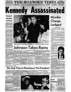 After the assassination of President Kennedy. November 23, 1963.