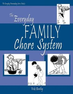 """How do you integrate chores into your day to day?  Here's a book reviewed on Curriculum Choice that offers some solid ideas for setting up the """"everyday family chore system."""""""