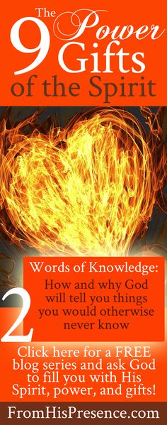 How God will tell you His secrets using the spiritual gift of words of knowledge. Every believer can have this gift! Read this free blog series.